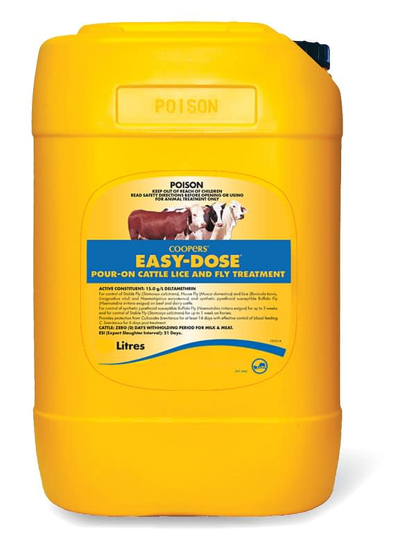 Coopers Easy Dose 20L Pour-on Lice Fly Treatment