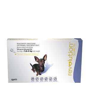 Revolution Dog 2.6-5KG + Canex Intestinal Wormer