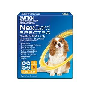 Nexgard Spectra Dog 3.6-7.5kg
